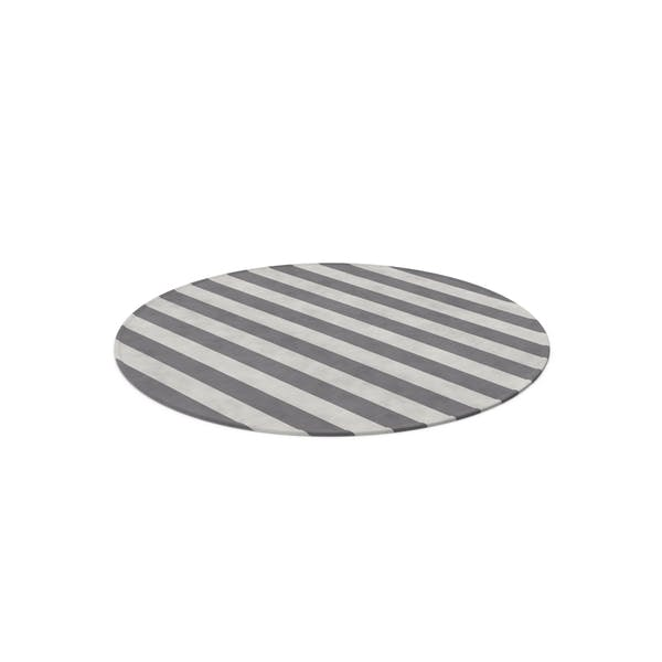 Striped Round Dhurrie Rug