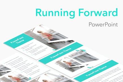 Running Forward PowerPoint Theme