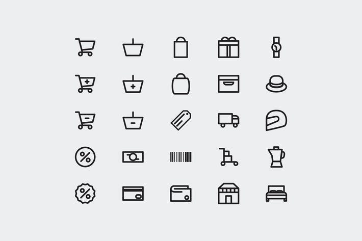 Thumbnail for 25 Shopping Icons