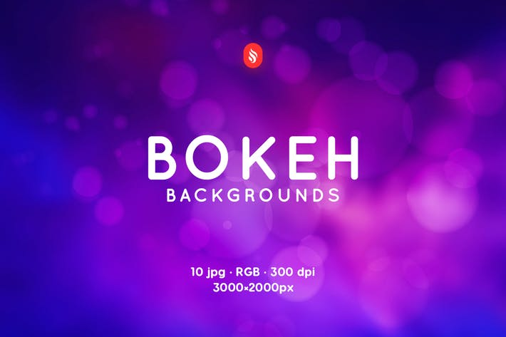 Colorful Blurred Bokeh Backgrounds by themefire on Envato Elements