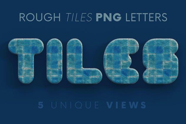 Rough Tiles - 3D Lettering