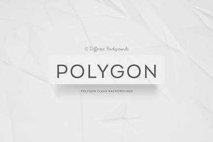 Fondos de limpieza de polígonos