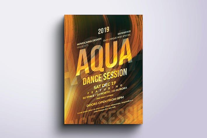 Thumbnail for Aqua Party Poster & dépliant Design