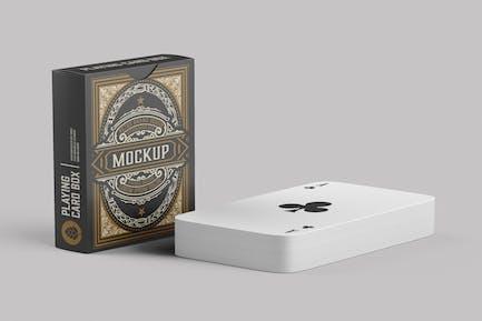 Box mit Spielkarten Mockup