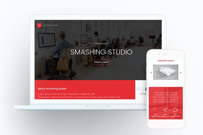 Thumbnail for Smashing Studio Landing Page