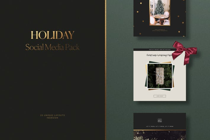 Thumbnail for Holiday Social Media Pack
