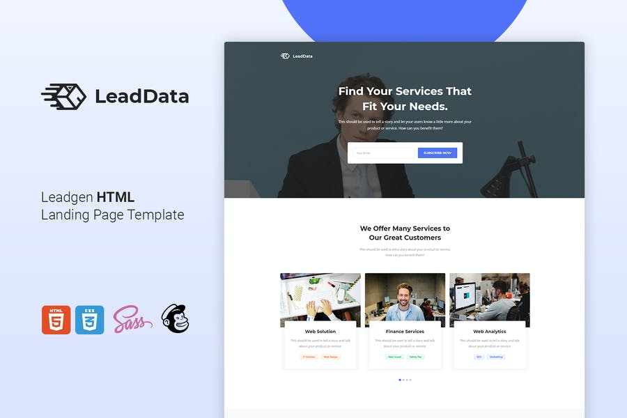 LeadData - Lead Generation HTML Landing Page