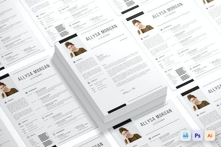 One Page Resume CV