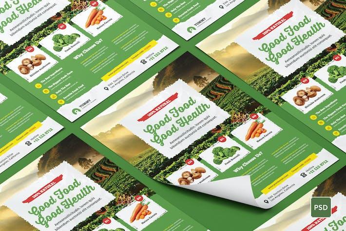 Thumbnail for Organic Market, Fresh Food Flyer