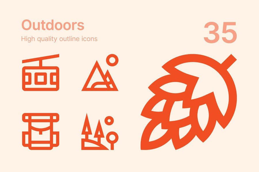 Outdoors icons