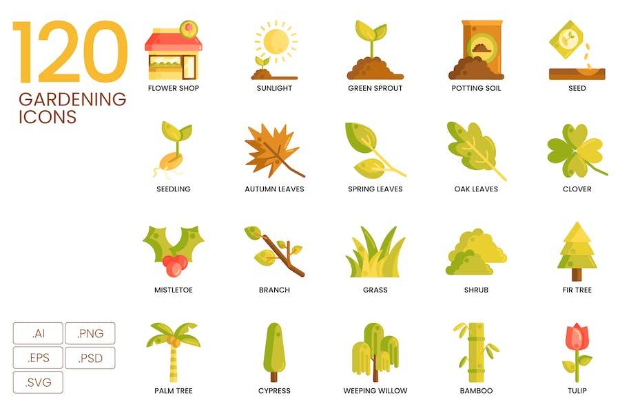 120 Farming Icons (SVG)