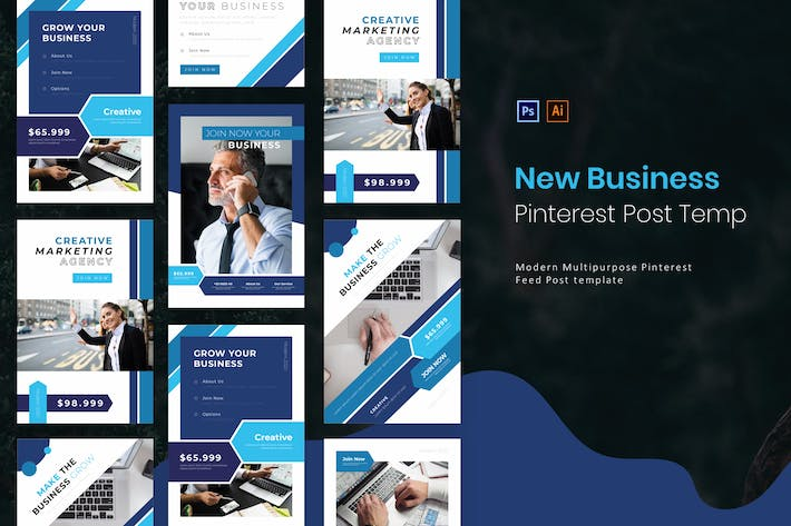 Thumbnail for New Business | Pinterest Post Template