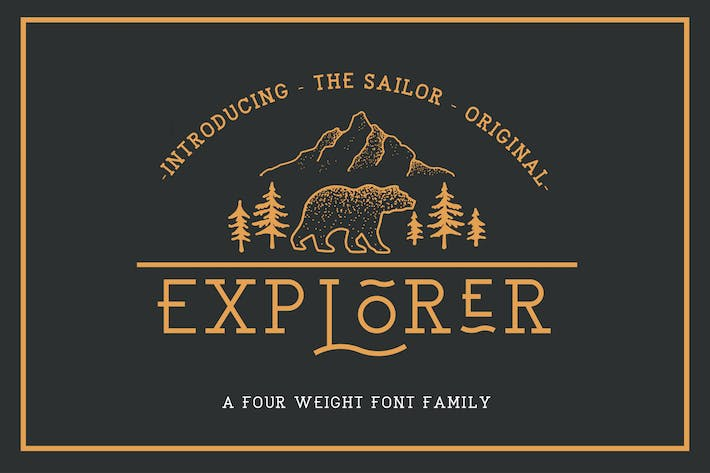 Thumbnail for EXPLORER - Sailor Original Typeface