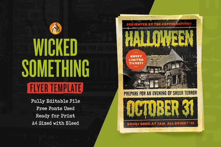 Thumbnail for Something Wicked — Flyer Template