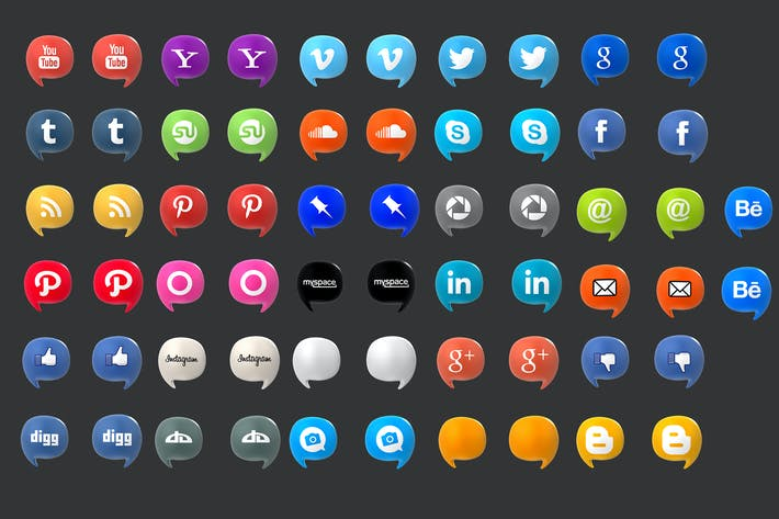 Thumbnail for Social Media Baloons Set (Pack of 35)