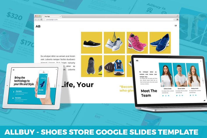 Thumbnail for Allbuy - Shoes Store Google Slides Template