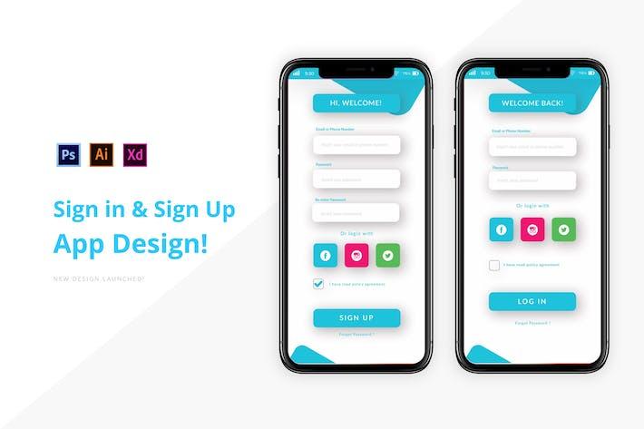 Creative Login & Sign Up