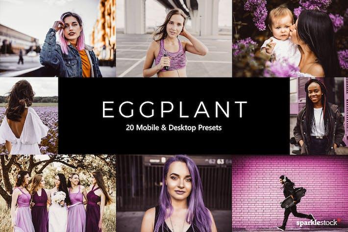 20 Eggplant Lightroom Presets & LUTs