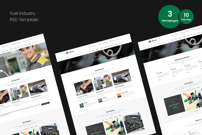Thumbnail for Fuel Industry PSD Template