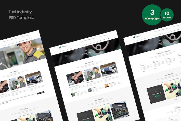 Thumbnail for PSD-Vorlage für Kraftstoffindustrie
