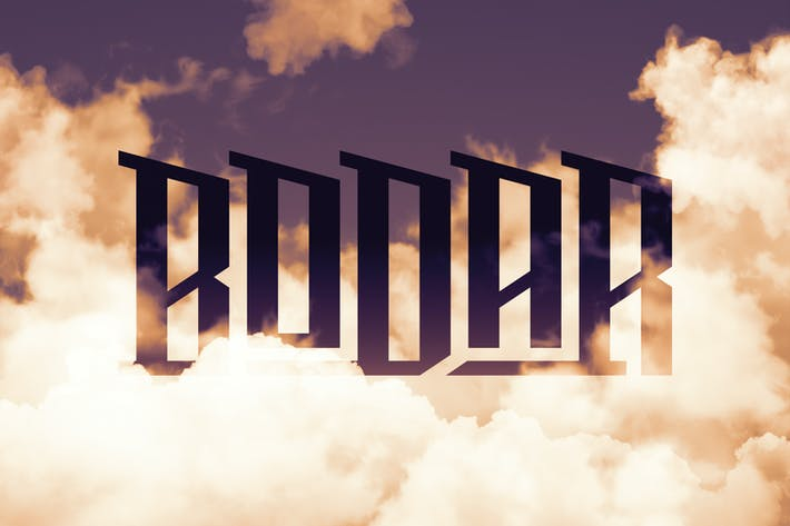 Thumbnail for Bodar typeface