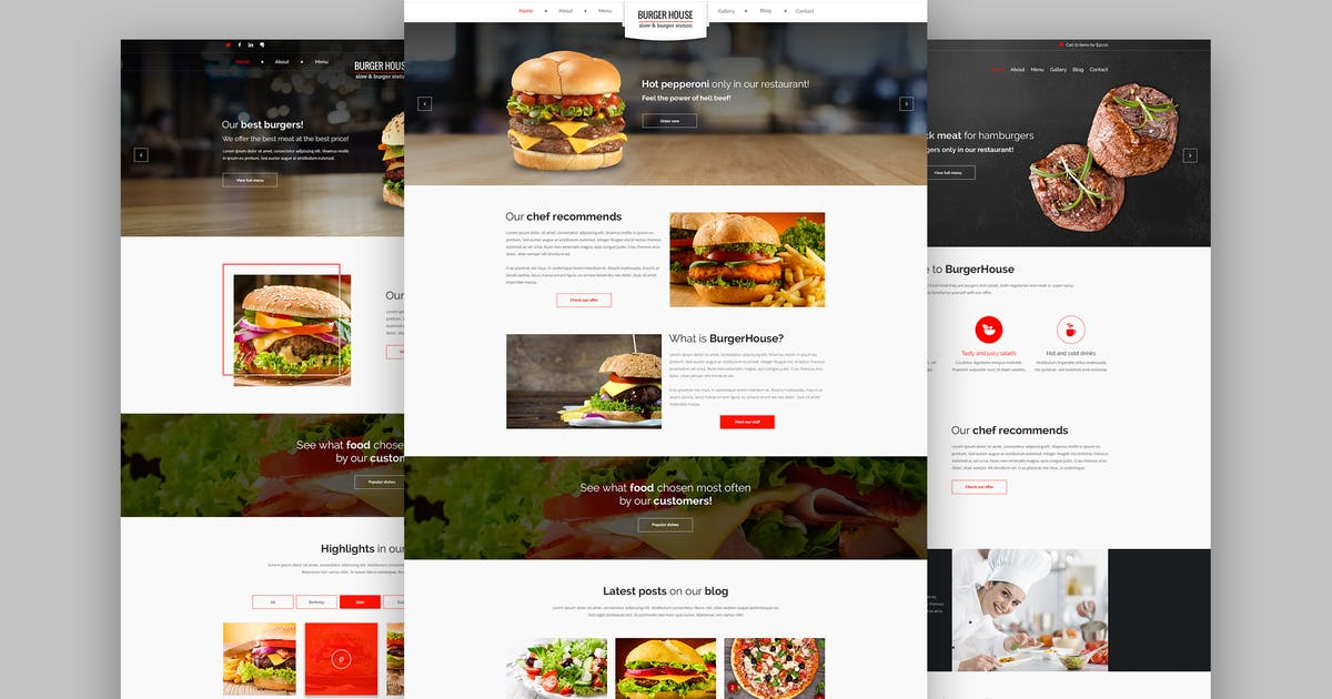 Download BurgerHouse – Restaurant – Responsive PSD Template by Unknow