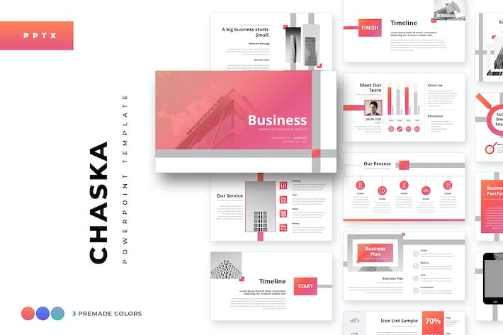 Thumbnail for Chaska Business Powerpoint Template