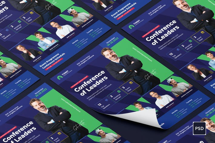 Thumbnail for Conference Flyer PSD Template
