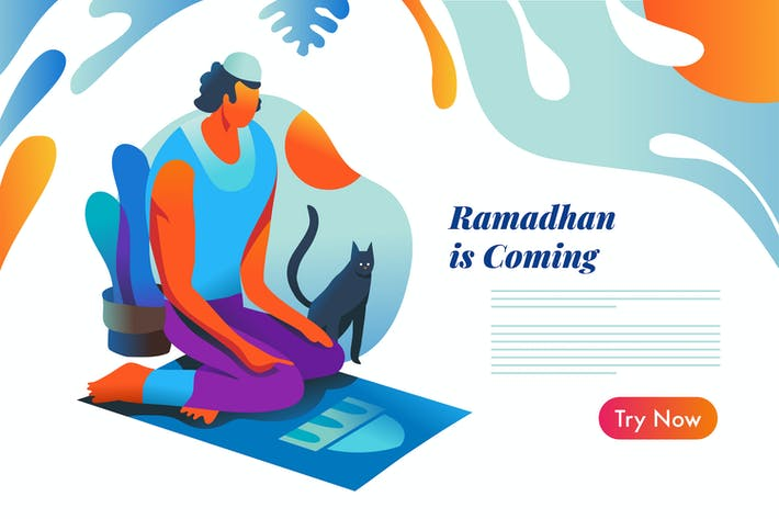 Thumbnail for Ramadhan is Coming, Islamic graphic