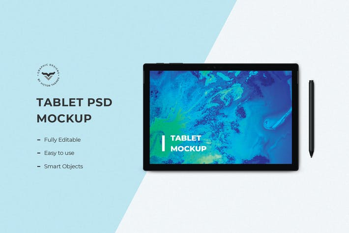 Thumbnail for Tablet Mockups with Pen