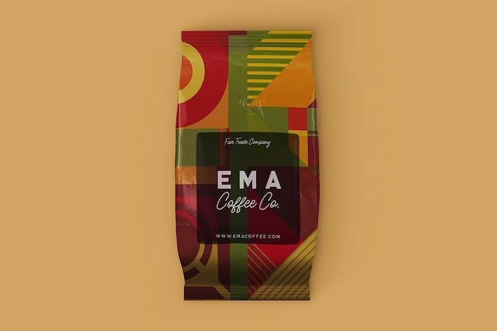 Kaffeebeutel Mock-up