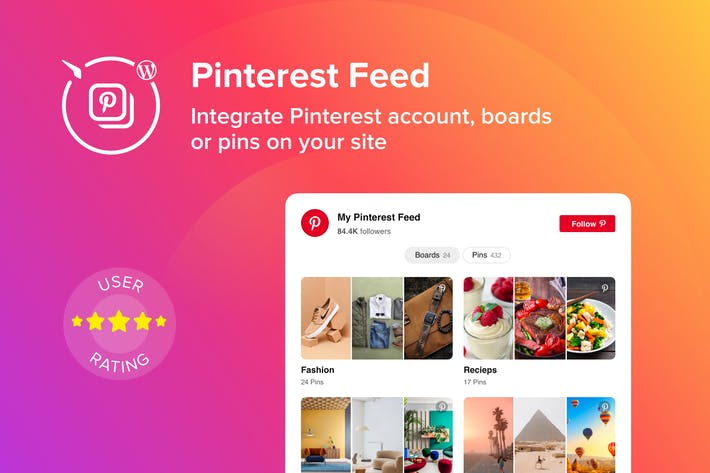 WordPress Pinterest Feed Plugin