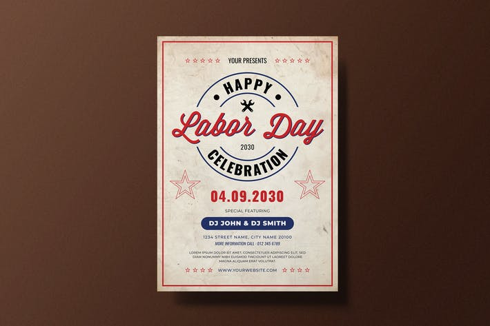 Vintage Labor Day Flyer