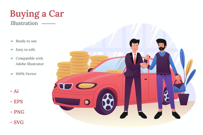 Thumbnail for Buying a Car Illustration