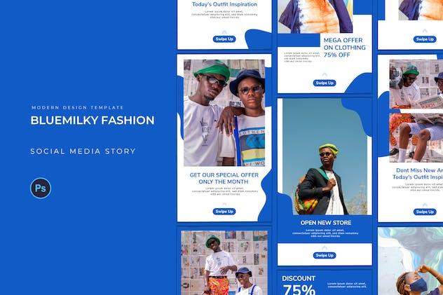 Blue Milky Fashion Instagram Story