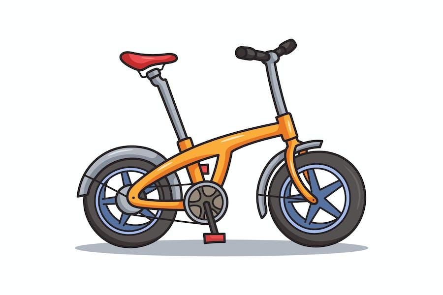 Folding Bike Cartoon