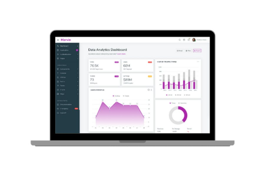 Marvin - Data Analytics Dashboard template