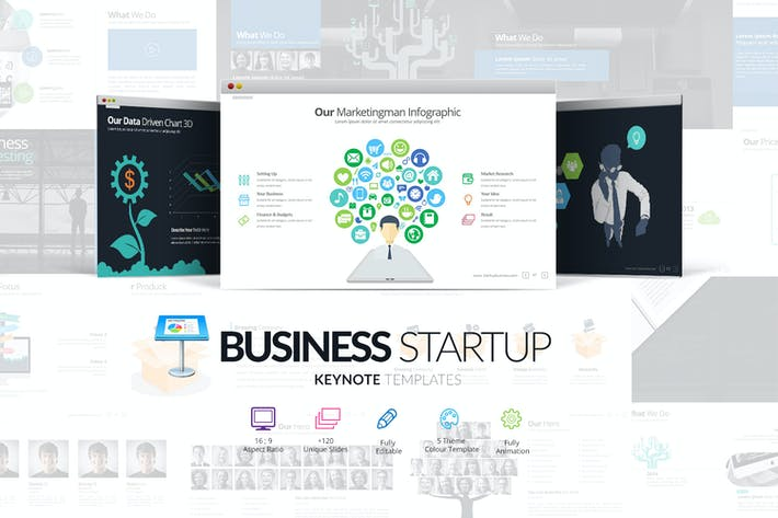 Thumbnail for Шаблон Keynote для запуска бизнеса