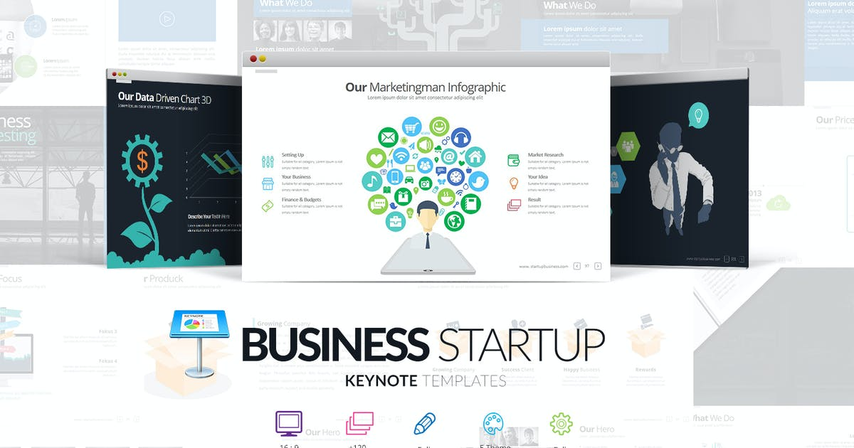 Business Startup Keynote Template by Unknow