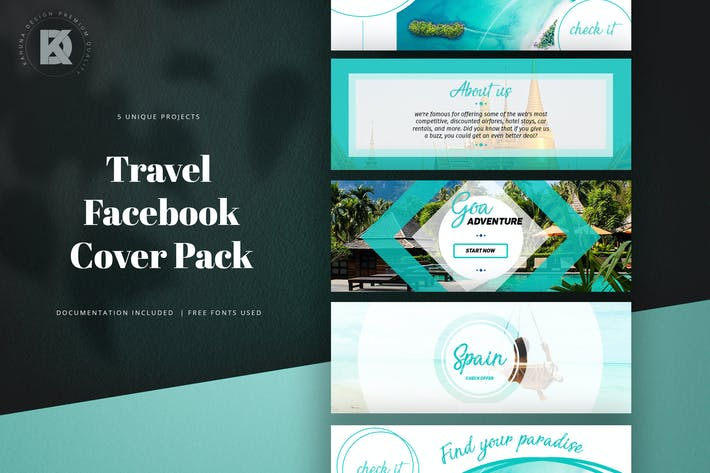 Thumbnail for Travel Facebook Cover Pack