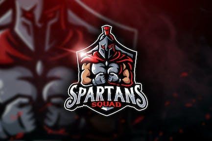Spartans Squad - Mascot & Esport Logo
