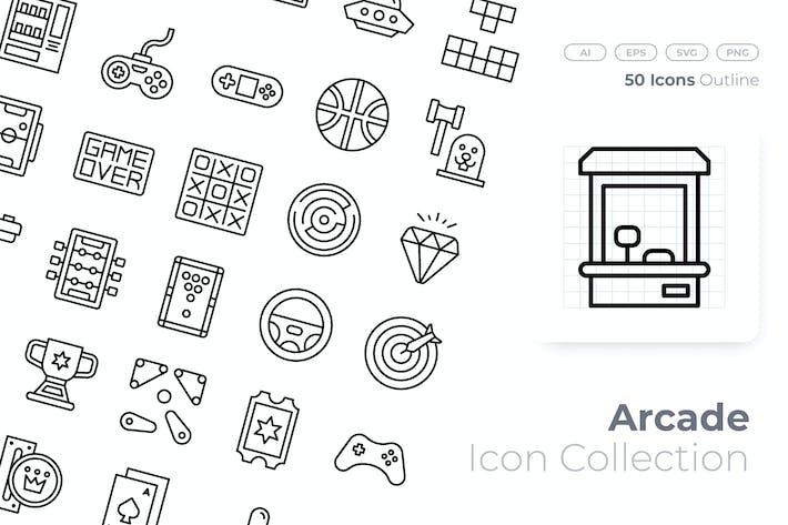 Thumbnail for Arcade Outline Icon