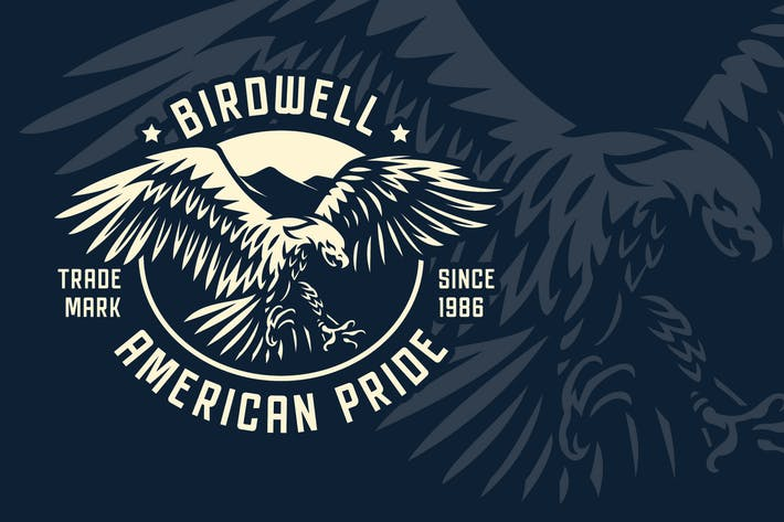 Thumbnail for Eagle Vintage Badge Logo Template