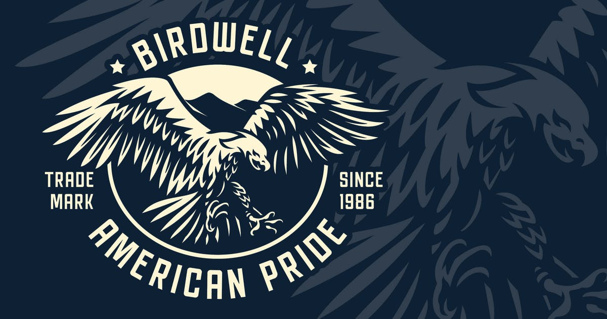 Download Eagle Vintage Badge Logo Template by Blankids