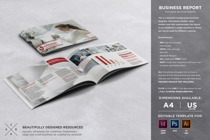 Thumbnail for Business Report Template