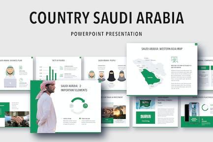 Country Saudi Arabia PowerPoint Template
