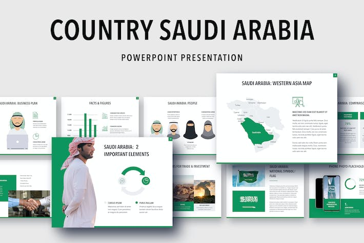 Thumbnail for Country Saudi Arabia PowerPoint Template