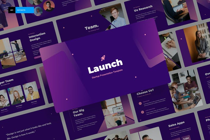 Thumbnail for Launch - Startup Keynote Presentation