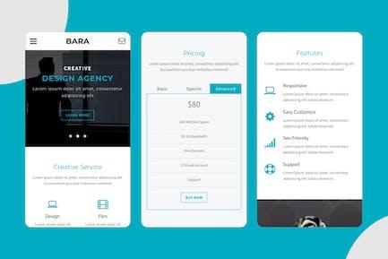 Bara - Creative Mobile Template