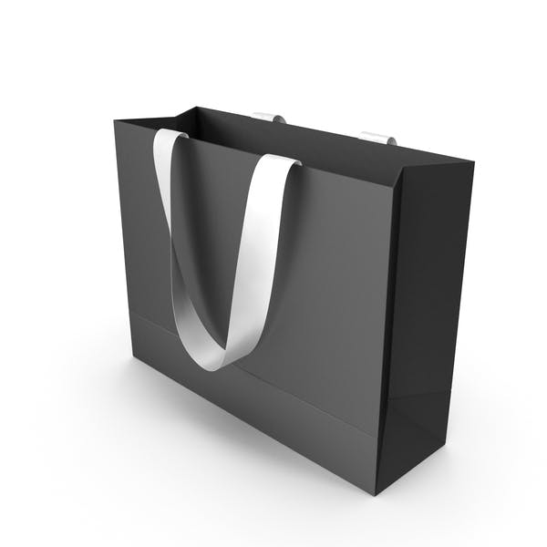 Thumbnail for Black Packaging Bag with White Tape Handles
